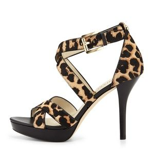Michael Kors Evie Calf-Hair Heels
